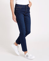 indigoKate Mid Rise Straight Leg Jeans