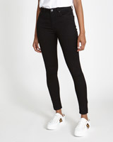blackJessie Mid Rise 360 Stretch Skinny Fit Jeans