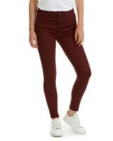 burgundyJessie Mid Rise 360 Stretch Skinny Fit Jeans