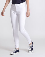 whiteJessie Mid Rise 360 Stretch Skinny Fit Jeans
