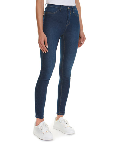4b52793c mid-wash Holly High Rise Skinny Fit Jeans