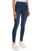 mid-wash Holly High Rise Skinny Fit Jeans