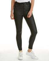 black Mid Rise Coated Skinny Fit Jessie Jeans