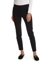 black Elasticated Back Stretch Trouser