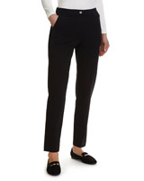 black Zip Pocket Ponte Trouser