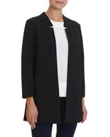 blackLongline Unlined Textured Jacket