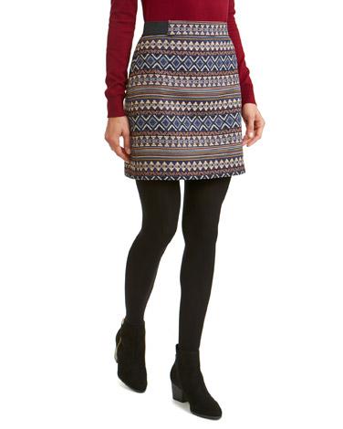 blueMulti Jacquard Skirt