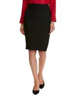 blackTextured Pencil Skirt