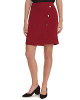 redPopper Detail Pique Wrap Skirt