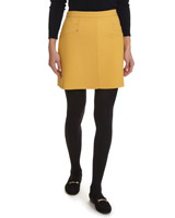 mustard Twill Pocket Mini Skirt
