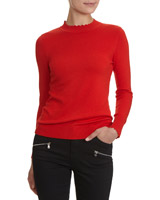 red Scallop Turtle Neck