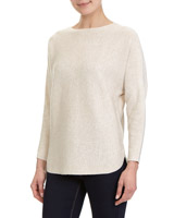 oatmeal Wool-Mix Batwing Jumper