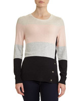 multi Colourblock Button Jumper