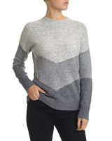 grey Chevron Jumper