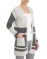 grey Colourblock Cardigan