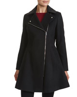 black Asymmetric Dolly Coat