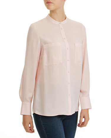blush Front Button Blouse