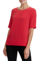 red Woven Front Top