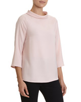 blush High Neck Top