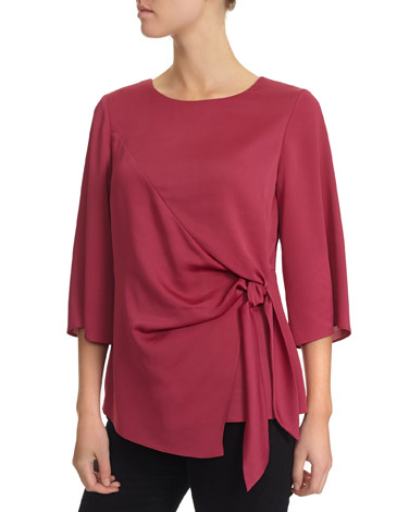 4f7d59b9f6fdc8 pink Side Tie Top