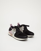 black-grey Savida Colour Block Trainers