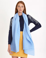 blue Savida Pleat Scarf