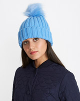 light-blueSavida Ribbed Pom Hat