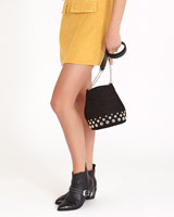 black Savida Round Stud Bag