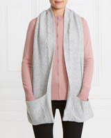 grey Gallery Cable Knit Scarf