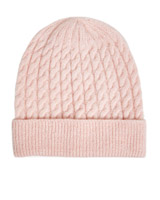 blush Gallery Cable Beanie
