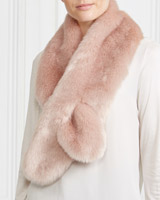 blush Gallery Faux Fur Shawl