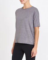 char-marl Textured T-Shirt