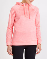 neon-peach Half Zip Fleece