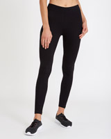 black Stretch Ankle Length Leggings
