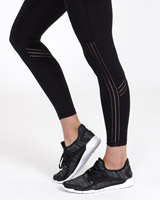 black Elastic Detail Leggings
