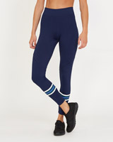 navy Stripe Print Leggings