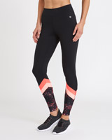 black Colour Splice Leggings