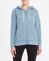 green Marl Zip-Through Hoodie