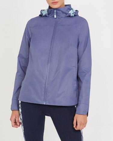 denimScalloped Detail Waterproof Coat