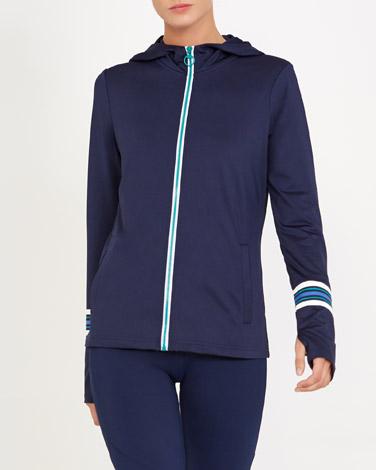 navyStripe Detail Jacket