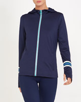 navy Stripe Detail Jacket