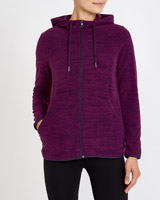 purple Spacedye Zip Through Fleece