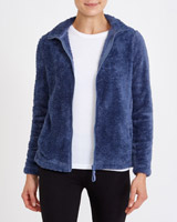 denim Teddy Fleece Jacket