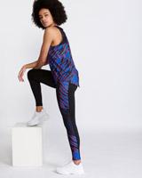 blackHelen Steele Zebra Print Insert Full Length Leggings