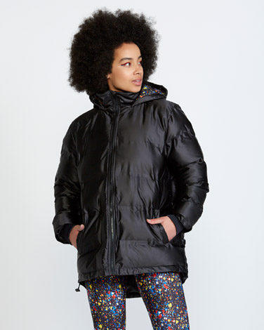 blackHelen Steele Longline Padded Jacket