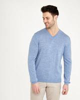 light-bluePaul Costelloe Living Merino Regular Fit V-Neck Jumper