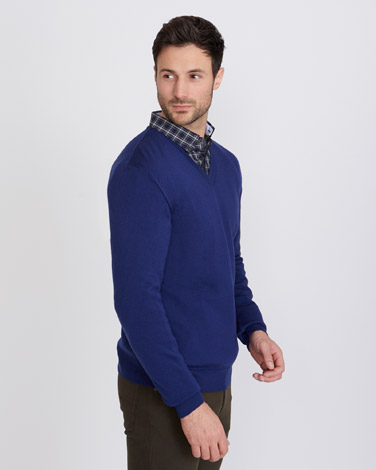 Paul Costelloe Living Merino V-Neck Regular Fit Jumper