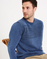 denim Paul Costelloe Living Acid Wash Regular Fit Jumper