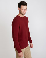 burgundy Paul Costelloe Living Burgundy Lattice Crew-Neck Jumper