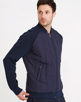navy Paul Costelloe Living Padded Hybrid Jacket
